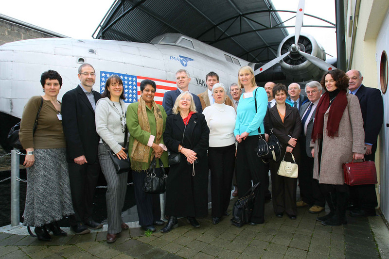 2 Foynes Flying Boat Museum in Co. Limerick has been named as a winner in the 2007 Interpret  Britain & Ireland Awards by the Association for Heritage Interpretation (AHI). Photo shows Aaron Lawton, Chairman, AHI (2nd left) visiting Foynes Museum.  - Photo: Kieran Clancy / PICSURE  ©  26/11/07