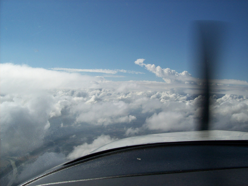 Enroute CGI- watching that buildup.<br /> Detoured 25 Miles South