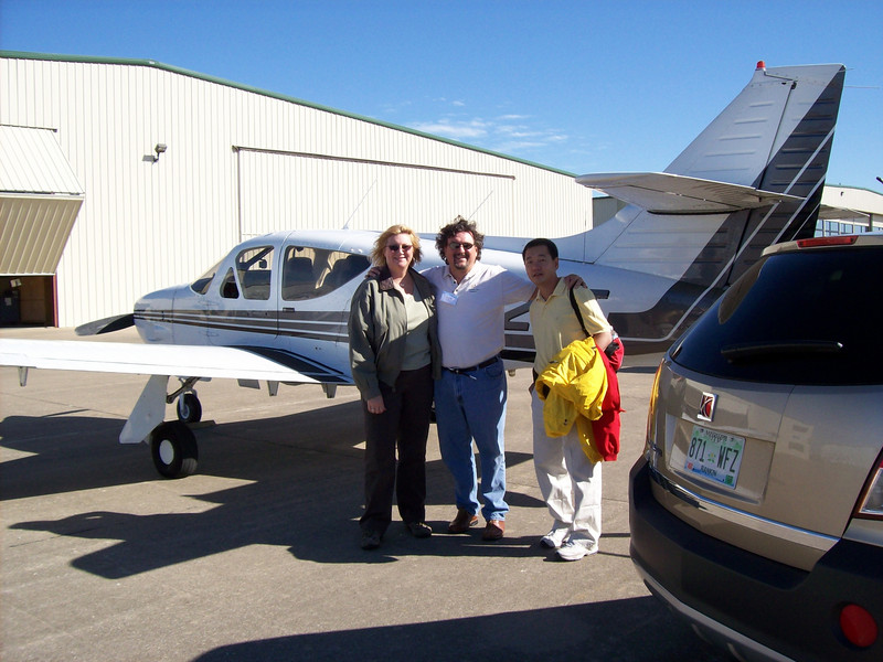 Miriam & David, & John Lee <br /> with Sherman's N112HT