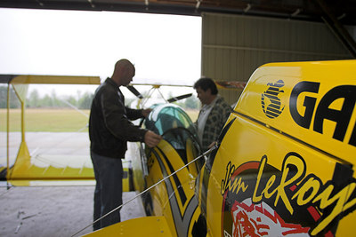Final check out before the test flight.