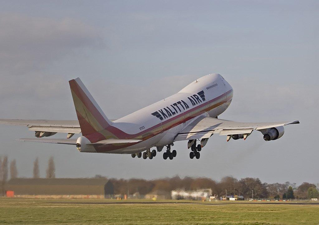 Kalitta Air  B747-200  N701CK<br /> By Stuart Allen.