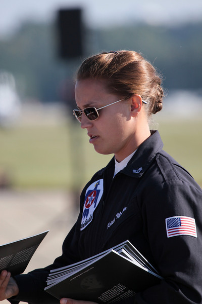 Staff member for the USAF Thunderbirds at the 2008 Wings over Marietta Open House & Airshow