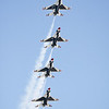 The USAF Thunderbirds performing at the 2008 Wings over Marietta Open House & Airshow