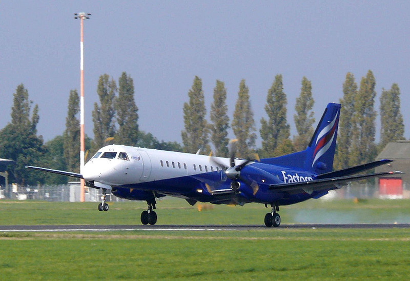 Eastern Airways Saab 2000  G-CERY<br /> By Clive Featherstone.