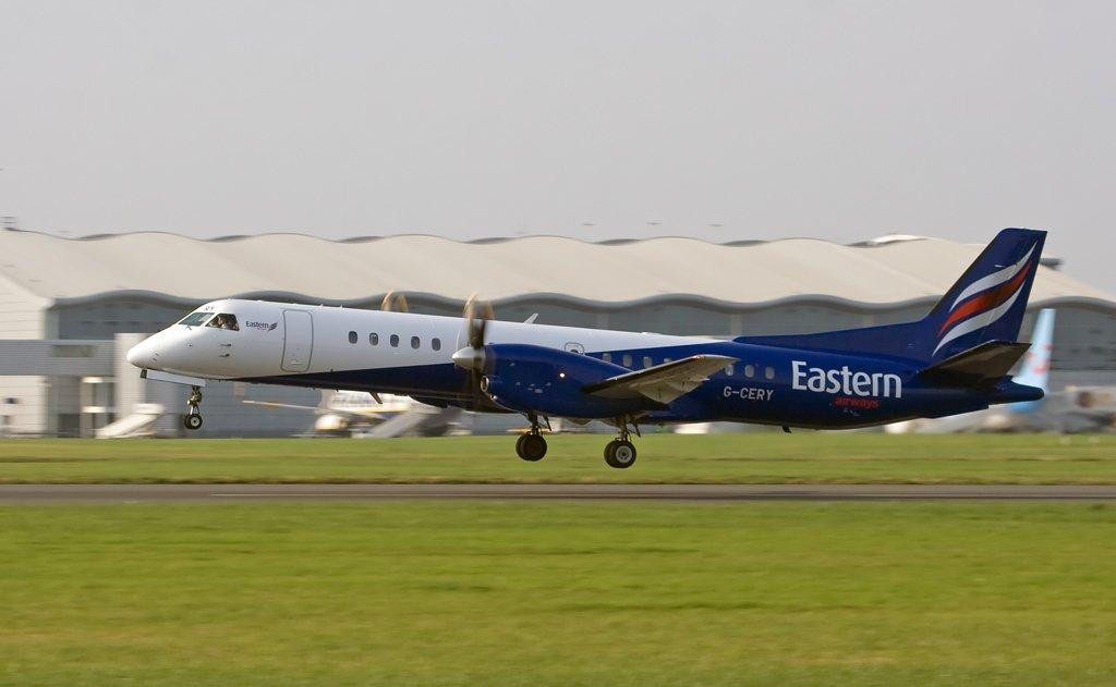 Eastern Airways Saab 2000  G-CERY<br /> By Stuart Allen.
