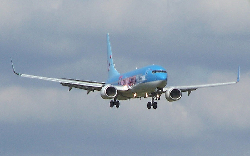 Thomson Airways  737-800 G-FDZP <br /> By Clive Featherstone.