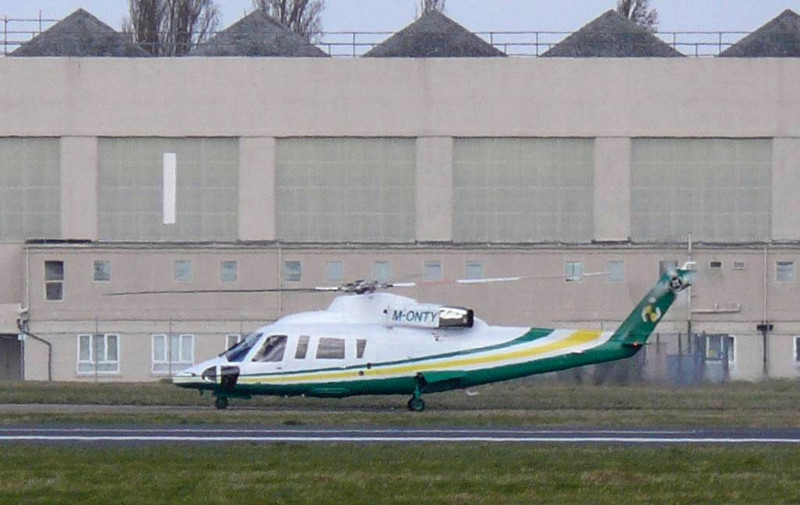 Sikorsky 76 M-ONTY<br /> By Clive Featherstone.