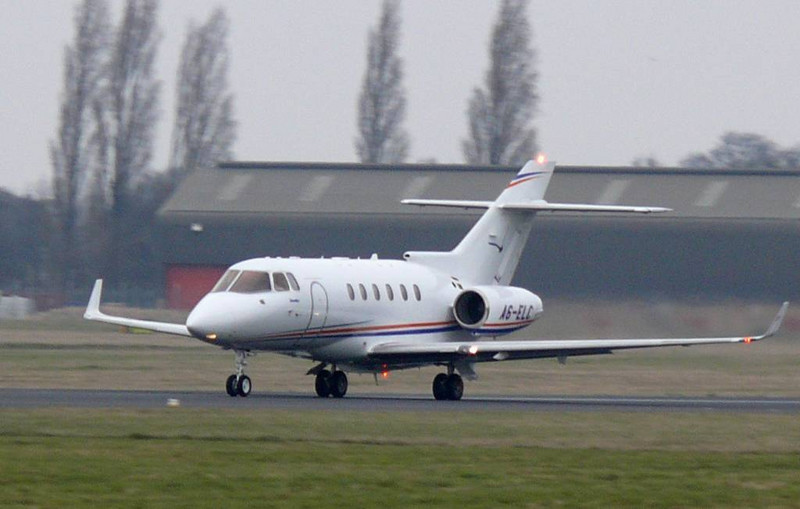 Hawker 800XP A6-ELC<br /> By Clive Featherstone.
