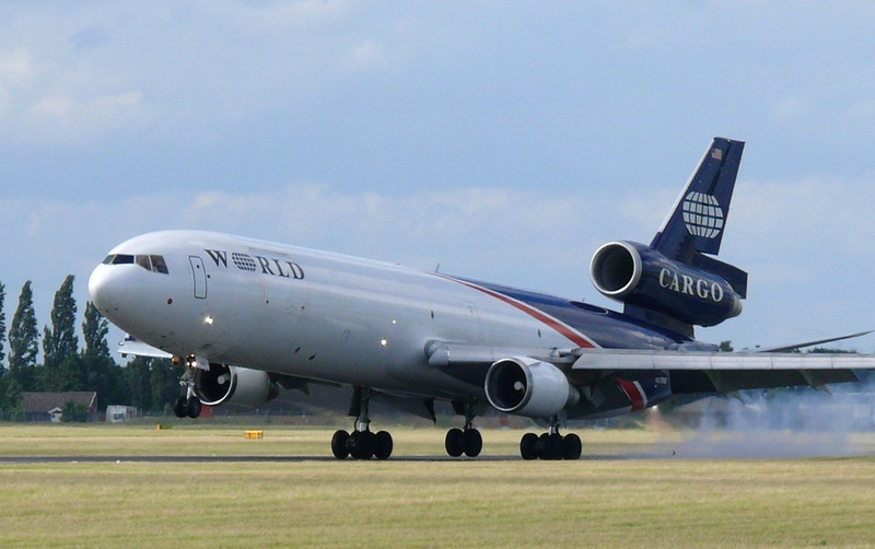 World Airways Cargo MD11  N279WA<br /> By Clive Featherstone.
