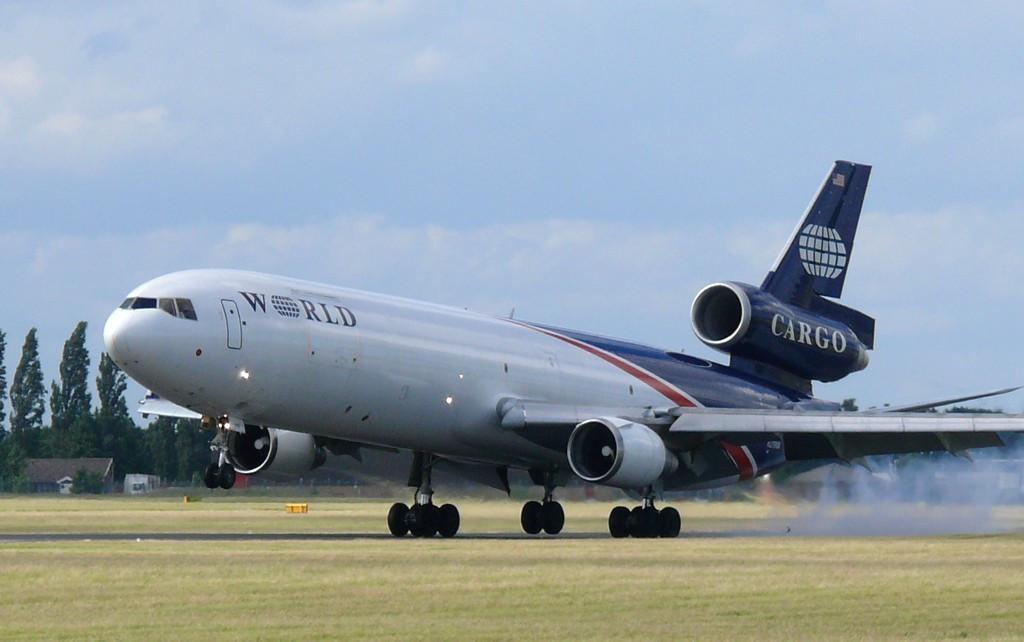 World Airways Cargo MD11  N279WA<br /> By Clive Featherstone.