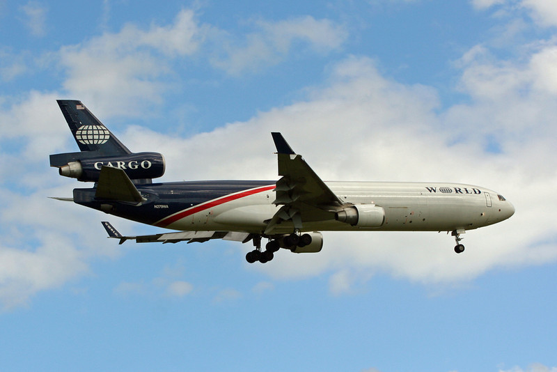 World Airways Cargo MD11  N279WA<br /> By David Bladen.