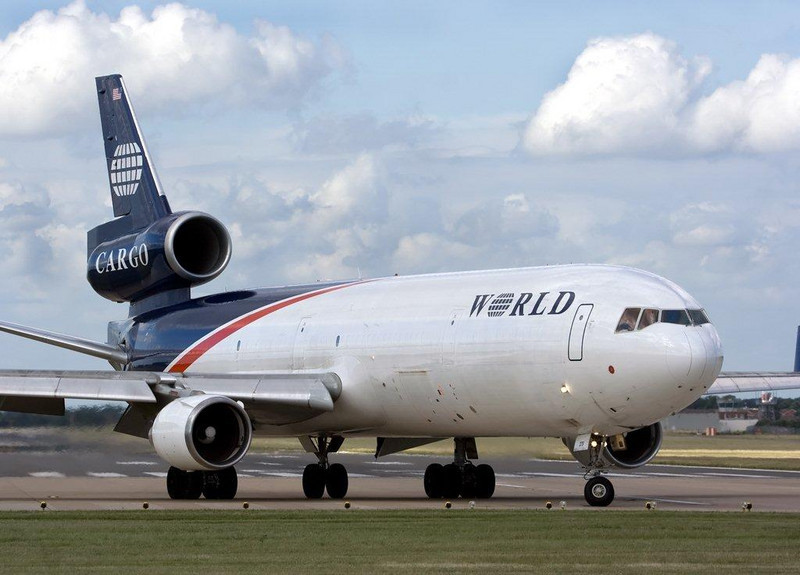World Airways Cargo MD11  N279WA<br /> By Stuart Allen.