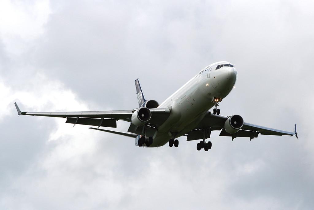 World Airways Cargo MD11  N279WA<br /> By David Bladen.