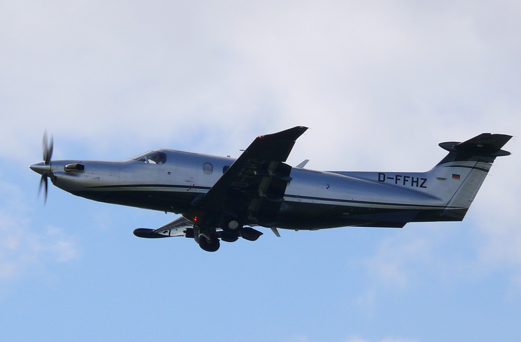 Pilatus PC-12  D-FFHZ<br /> By Clive Featherstone.