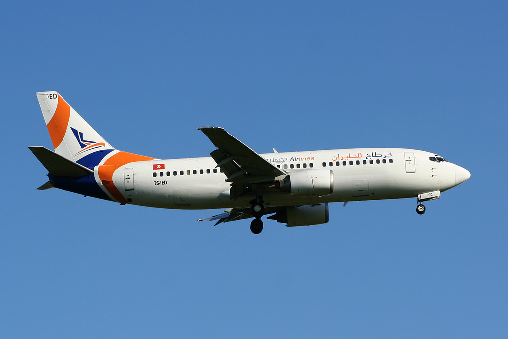 Karthago Airlines Boeing 737-33A  TS-IED<br /> By David Bladen.