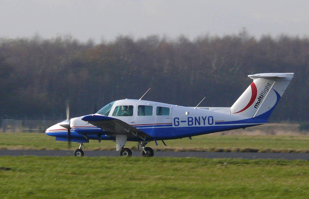 Multiflight Ltd  Beech 76 Duchess G-BNYO<br /> By Clive Featherstone.