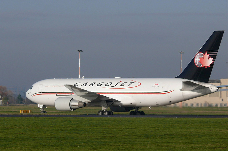 Cargojet 767-200  C-FGAJ <br /> By Clive Featherstone.