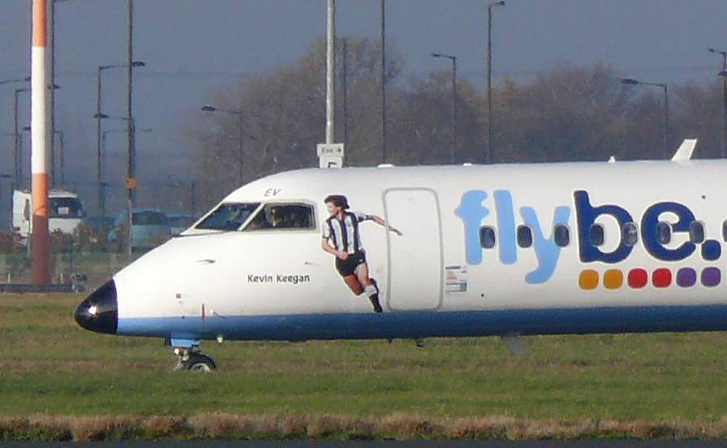Flybe DHC-8-402Q Dash 8 G-KKEV  (Kevin Keegan)<br /> By Clive Featherstone.