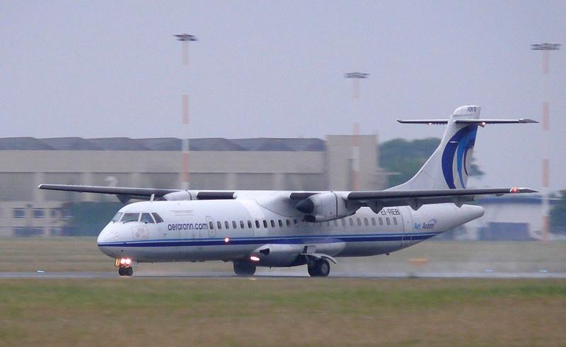Aer Arann ATR-72  EI-REB<br /> By Clive Featherstone.