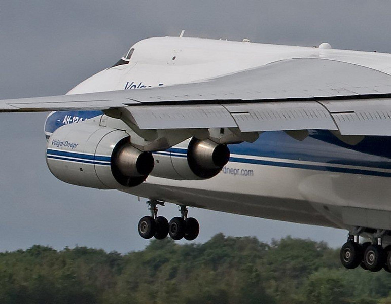 Volga-Dnepr Airlines An-124-100 Rusian RA-82074<br /> By Stuart Allen.