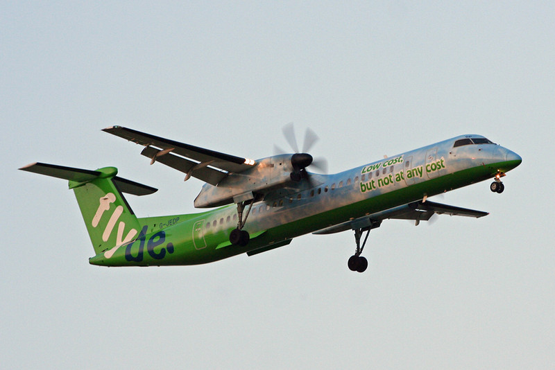Flybe DH8D G-JEDP<br /> By David Bladen.