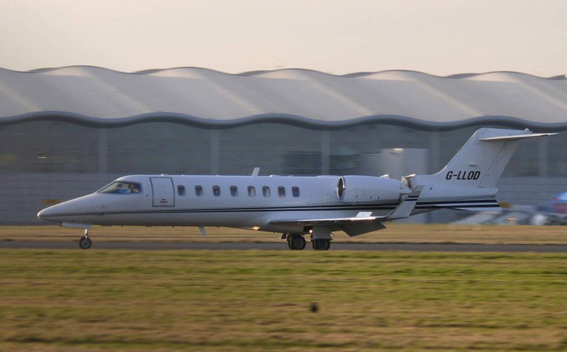 Learjet 45  G-LLOD<br /> By Clive Featherstone.