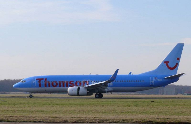 Thomson 737-800  G-FDZE<br /> By Clive Featherstone.