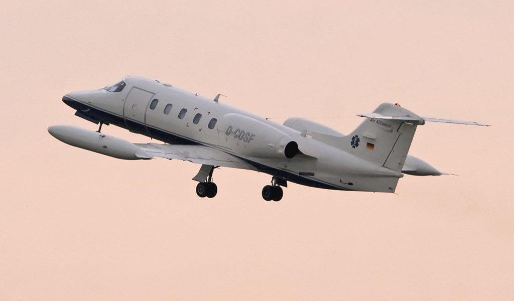 Air Alliance Gates Learjet 35 D-CDSF (usually operate air amnbulance services)<br /> By Stuart Allen.