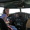My daughter in the pilot's seat of the Yankee Lady B-17. We met the crew of the B-17 at a restaurant Saturday night and they invited us to visit them at the air show on Sunday morning for a personal tour of the inside and outside of the plane. Thanks Todd!
