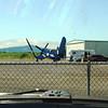 Chance Vought F4U-7 Corsair wings folding