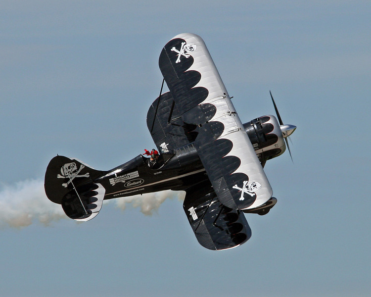 The Waco Mystery Ship of Franklin's Flying Circus, piloted by Kyle Franklin.
