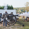 Re-enactor's fire off a canon to open the air show