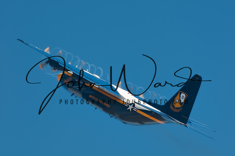 Blue Angels C-130 transport {Photo by Justin Ward)