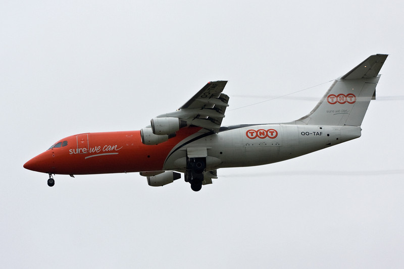 TNT BAe 146-300QT OO-TAF inbound.<br /> By David Bladen.