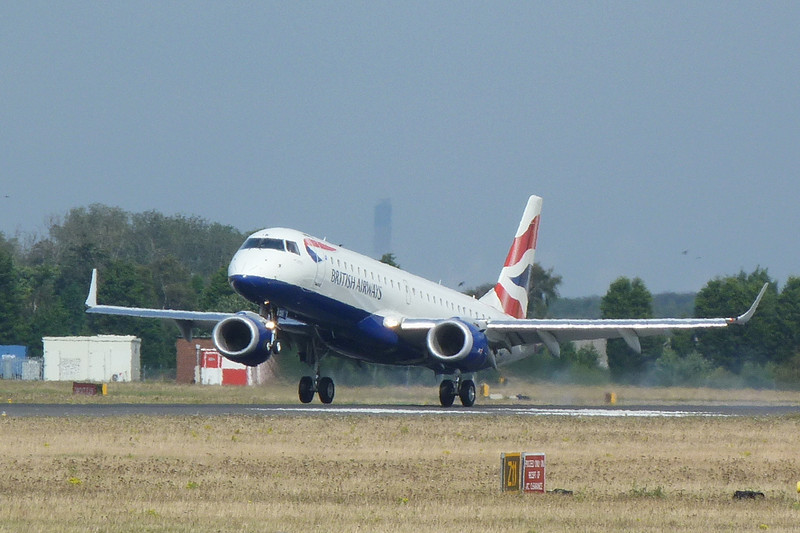 British Airways Embraer 190 G-LYCK.............a first visit for DSA.<br /> By Clive Featherstone.