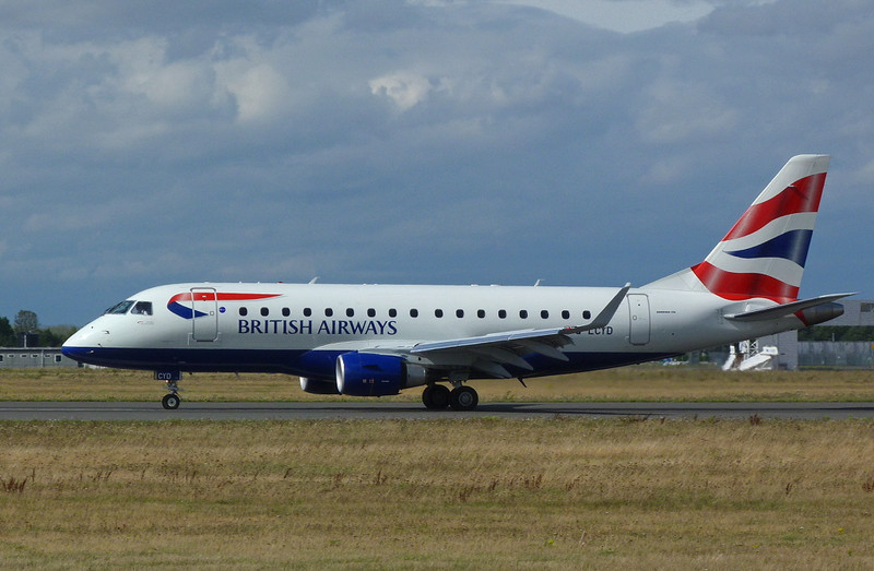 British Airways Embraer 170 G-LCYD.........another first for DSA.<br /> By Clive Featherstone.