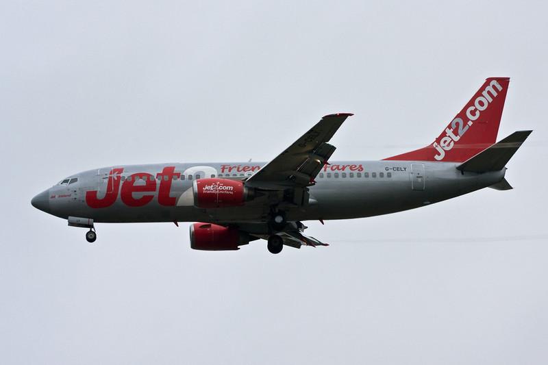 Jet2 737-300 G-CELY diverts into DSA.<br /> By David Bladen.