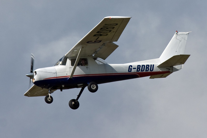 Cessna F150M G-BDBU.<br /> By David Bladen.