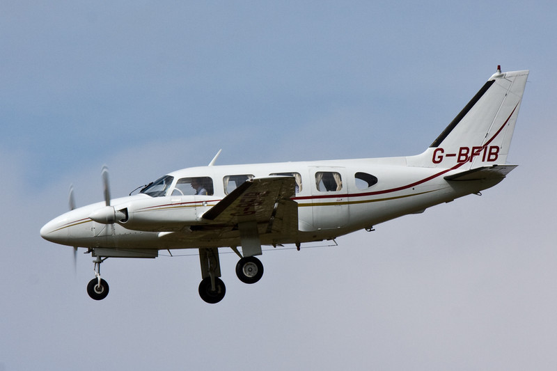 Piper PA-31-310 Navajo G-BFIB.<br /> By David Bladen.