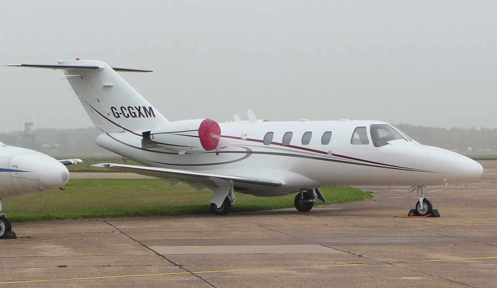 Joining the line-up of Cessna's for sale is.......Cessna 525 CitationJet G-CGXM (ex D-IBBA)<br /> By Jim Calow.