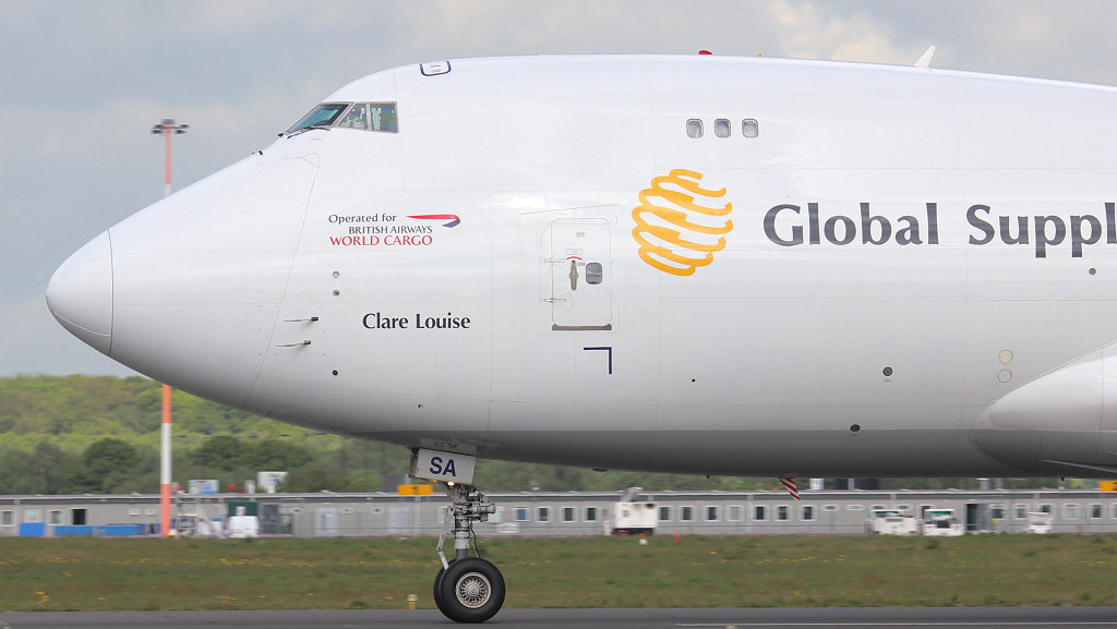 Global Supply 747-400F G-GSSA.<br /> By Jim Calow.