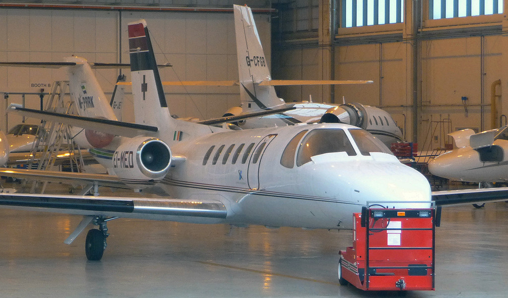 Cessna 550 Citation II EI-MED.<br /> By Jim Calow.