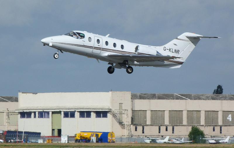 Saxonair Charter Ltd Beech 400A Beechjet G-KLNR.<br /> By Clive Featherstone.