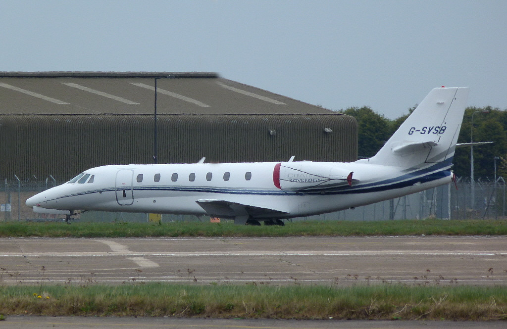 Cessna 680 Citation Sovereign G-SVSB.<br /> By Clive Featherstone.
