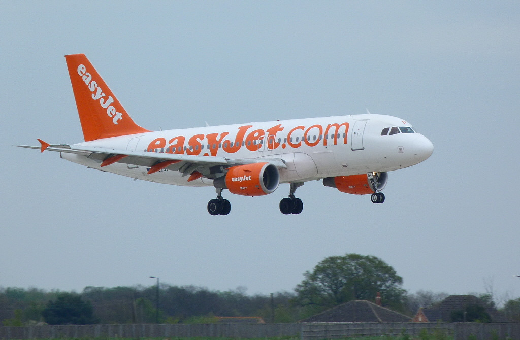 At DSA for training.......Easyjet A319 G-EZDY<br /> By Clive Featherstone.