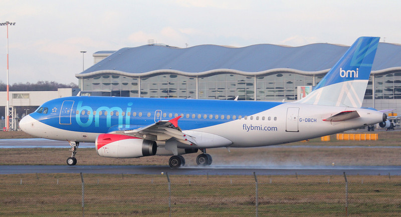 BMI A319 G-DBCH.<br /> By Jim Calow.