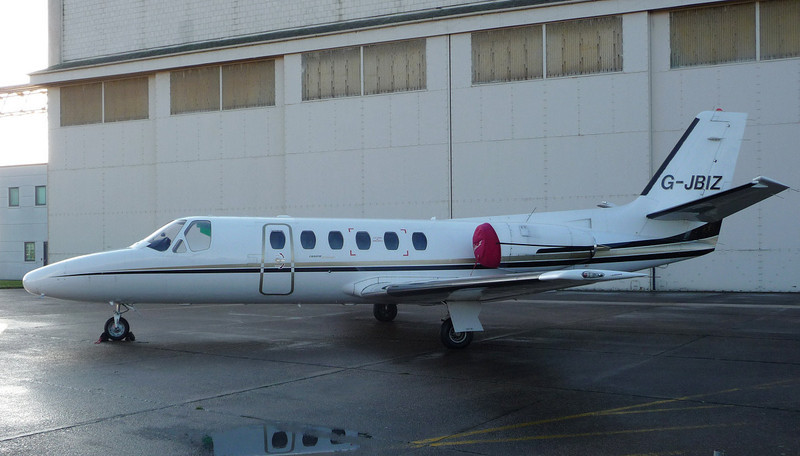 Cessna 550 Citation II G-JBIZ.<br /> By Jim Calow.
