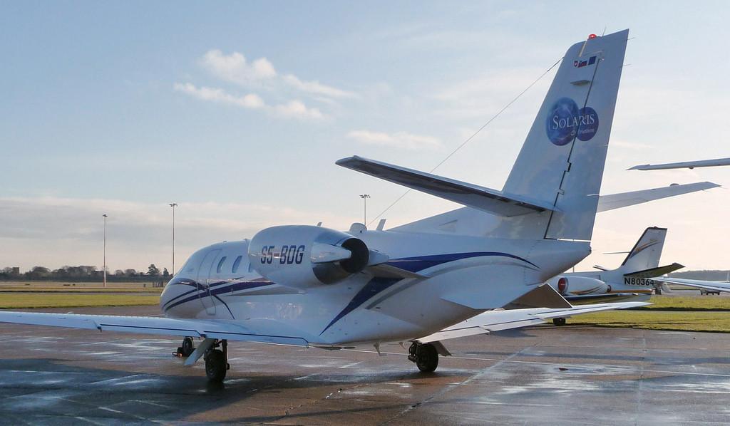 Cessna 560XL Citation Excel S5-BDG.<br /> By Jim Calow