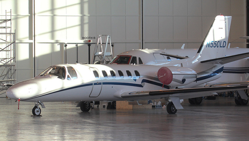 Cessna 550 Citation II N550LD.<br /> By Jim Calow.