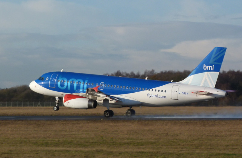 BMI A319 G-DBCH.<br /> By Clive Featherstone.
